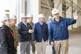 CNO Gilday Visits Ingalls Shipbuilding