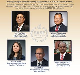 Photo Release — Huntington Ingalls Industries Employees Honored At Annual Society of Asian Scientists and Engineers National Conference