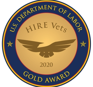 Photo Release -- Huntington Ingalls Industries Receives 2020 HIRE Vets Medallion Award from U.S. Department of Labor