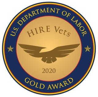 U.S. Department of Labor Hire Vets 2020 Gold Award