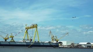 Keesler 403rd Fly Over Ingalls Shipbuilding
