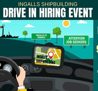 Ingalls Shipbuilding to Host Drive-In Hiring Event