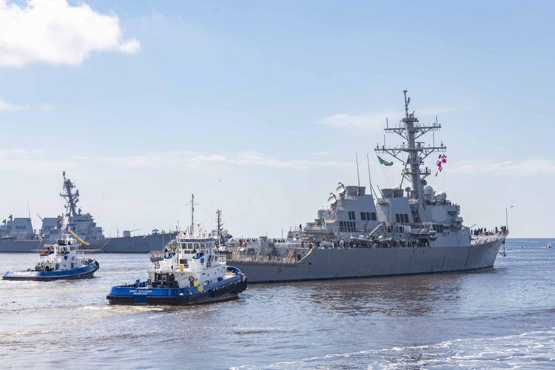 DDG 62 Sail Away