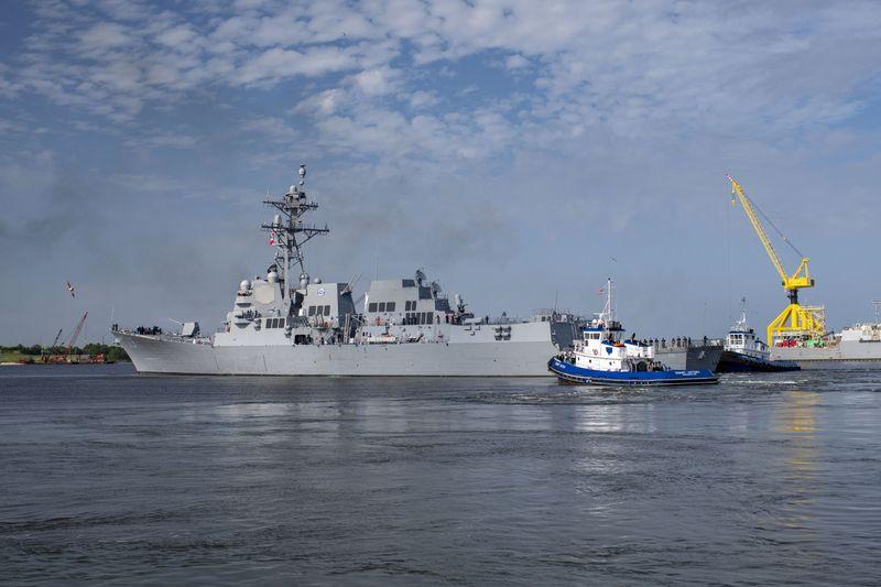 Delbert D. Black (DDG 119) Sails Away