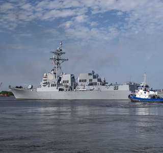 Delbert D. Black (DDG 119) Sails Away