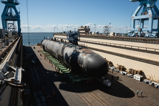 Montana (SSN 794) in Dry Dock