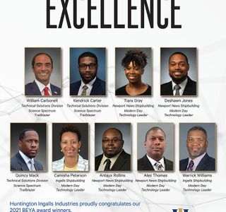 Photo Release — Huntington Ingalls Industries Employees Honored at 35th Annual Black Engineer of the Year Award STEM Conference