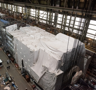 Photo Release -- Virginia-Class Submarine New Jersey Construction Advances with Pressure Hull Complete Milestone