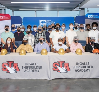 Photo Release — Ingalls Shipbuilding Extends 29 Full-Time Job Offers to High School Seniors