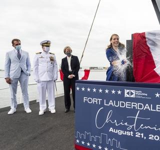 Fort Lauderdale (LPD 28) Christening Ceremony