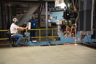 Doris MIller (CVN 81) First Cut of Steel