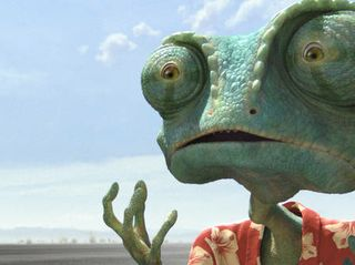 Rango (Johnny Depp) in RANGO, from Paramount Pictures and Nickelodeon Movies. Photo credit: Courtesy of Paramount Pictures (C) 2011 Paramount Pictures. All Rights Reserved.