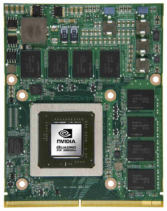 NVIDIA Quadro FX 3800M professional graphics solution