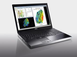 Dell Precision M6500 mobile workstation with NVIDIA Quadro FX 3800M (note: image on Dell Precision M6500 courtesy of Schlumberger)