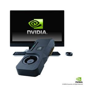 NVIDIA Quadro All-In-One GPU for the HP Z1 (external card shot with the HP Z1)