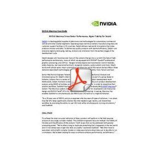 NVIDIA Maximus case study - Delphi