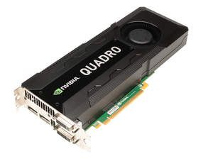 New NVIDIA Quadro K5000 professional graphics card - 3 qtr shot