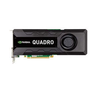 New NVIDIA Quadro K5000 professional graphics card - front shot