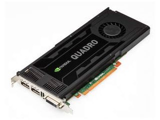A high-end card that delivers blazing-fast performance for graphics-intensive applications, the NVIDIA Quadro K4000 -- built on the ultra-efficient NVIDIA Kepler architecture -- has 3GB of onboard memory, multi-monitor support and stereo capability in ...