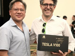 Big Surprise for Top AI Brainiacs: NVIDIA CEO Gives World's Top AI Researchers First NVIDIA Tesla V100s