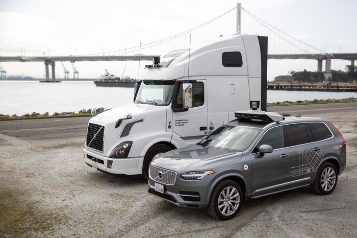 Uber Self-Driving Ride-Hailing Cars and Self-Driving Freight Trucks