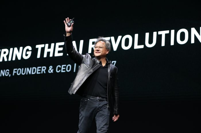 NVIDIA CEO Jensen Huang at GTC 2017.