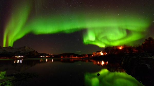 AI Lights Shine Bright Across Northern Sky, in Swedish Tribute to Tech's Biggest Wave
