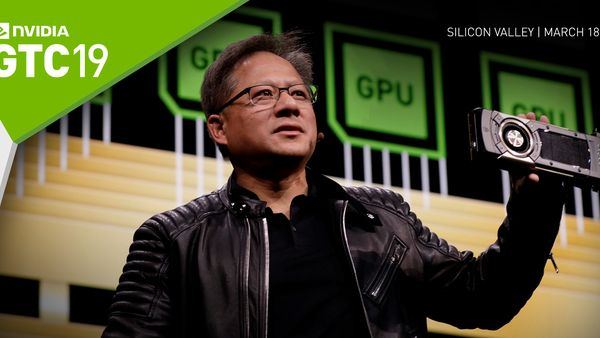 NVIDIA CEO Jensen Huang at GTC