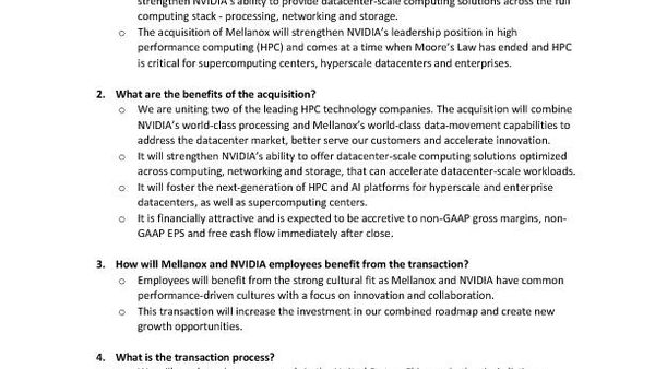 NVIDIA to acquire Mellanox: FAQ