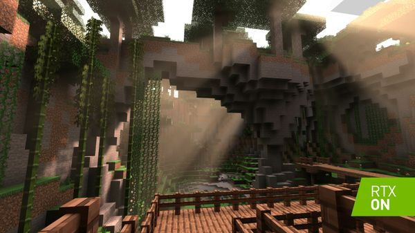 Minecraft with RTX On