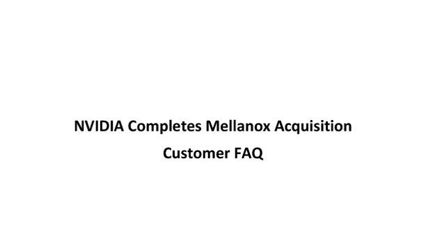 Mellanox Customer FAQ