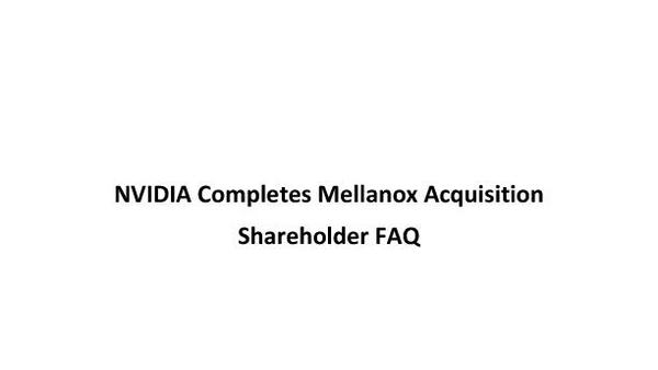 Mellanox Shareholder FAQ