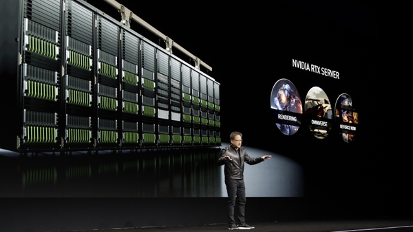 RTX Server with NVIDIA CEO Jensen Huang