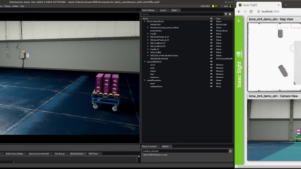 NVIDIA Isaac Drives STR Docking with Parts Dolly in BMW Factory
