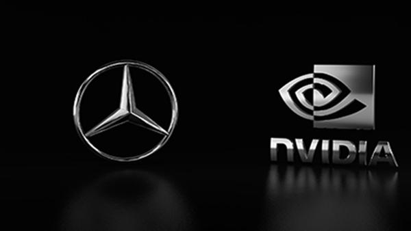 Mercedes-Benz and NVIDIA Logos