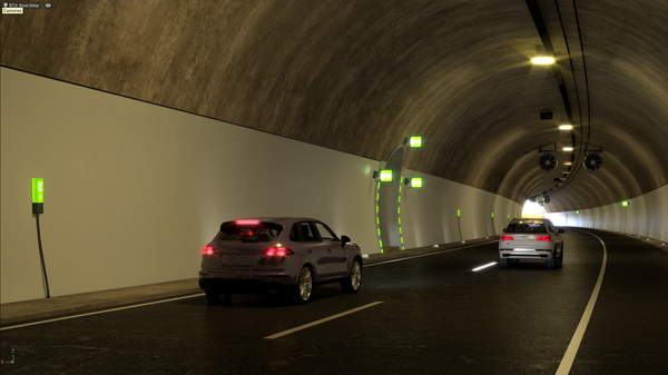 NVIDIA DRIVE Sim Tunnel Scene