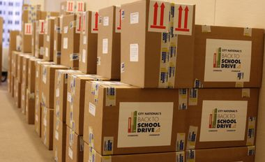 City National Sets New Record for Backpack Donations Filled With Supplies to Schools in Eight States
