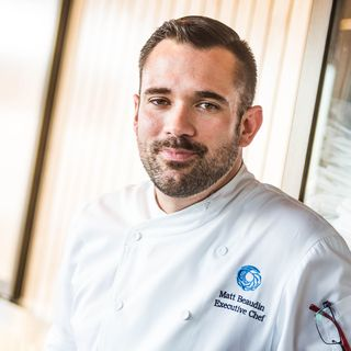 As Executive Chef at the Monterey Bay Aquarium, Matthew Beaudin is responsible for supervising and directing much of its culinary operations – from sourcing to menus to catering for private events. © Monterey Bay Aquarium