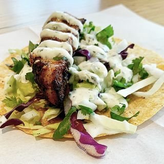 Rockfish taco served by the Monterey Bay Aquarium Seafood Watch Food Truck