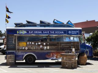 Monterey Bay Aquarium Seafood Watch Food Truck serves up ocean-friendly fare at San Francisco Bay area events during the summer of 2019.