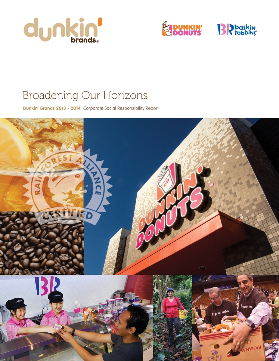 DUNKIN' BRANDS RELEASES NEW CORPORATE SOCIAL RESPONSIBILITY REPORT