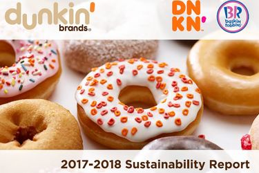 Dunkin' Brands Shares Progress Towards Sustainability Goals  in New Sustainability Report