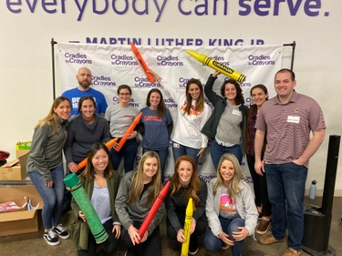 Dunkin' Brands team volunteers at Cradles to Crayons