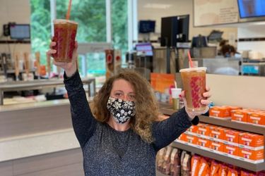 Dunkin' Brands Employees Couldn't Wait to Try Oatmilk at Dunkin': Video