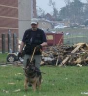 Associated colleague and rescue dog help in Joplin search and recovery