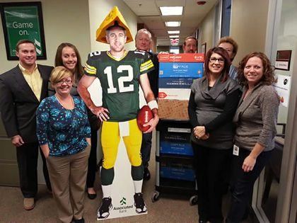 Associated Bank colleagues in Milwaukee collect books to promote literacy