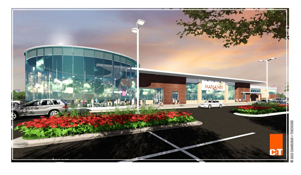 Developer rendering new Mariano's in Des Plaines, Ill