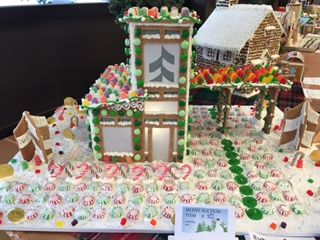 Associated Bank colleague enters Habitat for Humanity of Waukesha County's gingerbread house competition to raise money for those in need