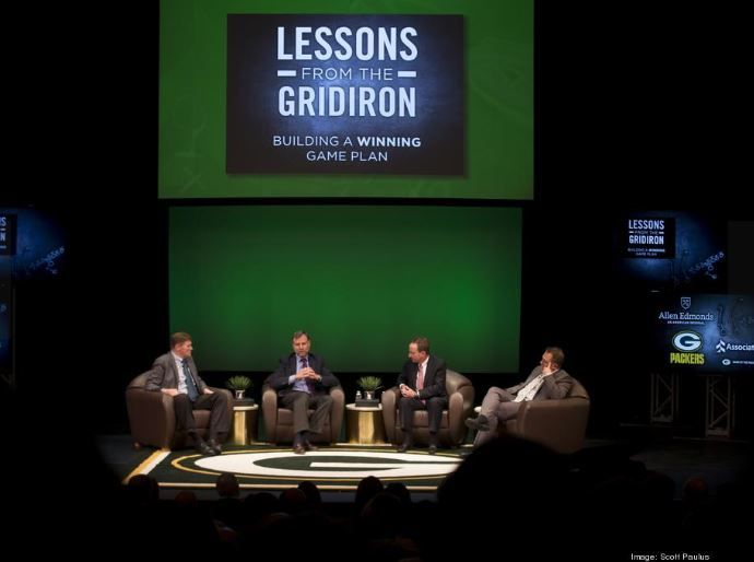 Associated Bank's president and CEO, Phil Flynn, joins CEOs and Green Bay Packers at Lessons from the Gridiron event