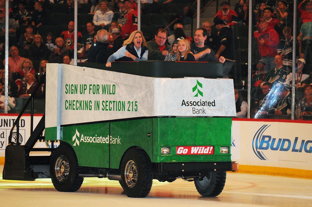 Minnesota Wild® fans offered a chance to win a free ride on the Associated Bank Ice Cruiser at all home games
